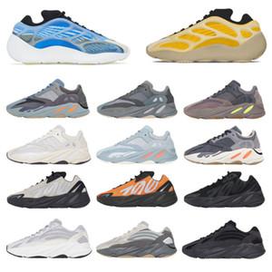 كاني ويست 700 V2 3 متر عاكس البرتقال العظام موجة الرجال النساء عارضة أحذية رياضة الصلبة رمادي التناظرية تيل الكربون الأزرق المدرب الرياضة أحذية رياضية