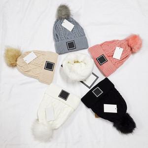 Beanies Luxur Skull Cap Hip Hop Pom-Pom Beanie Winter Warm hat Knitted Wool Hats for Women Men gorro Bonnet Caps