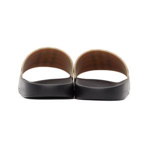 7CASUAL SANDALS Luxus Männer Frauen Gsandals Frau Leder Kausal Schuhe Strand Rutsche Sommer Mode Flache Sandalen Slipper Flip Flop Unisex UK GIV