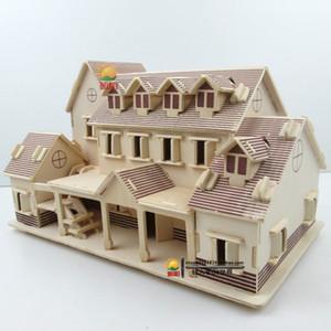 Niños DIY Puzzle Toy House 3D Jigsaw Sailing Boat Niños Regalo Juegos de regalo Montaje de madera Edificio Ferry Modelo Modelo de madera Juguetes de madera Q1214