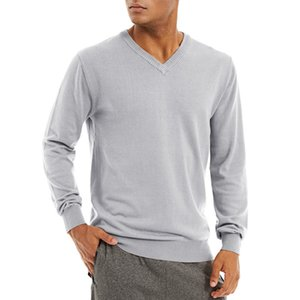 Garment Manufacturers Custom Knit Mens Fall Sweaters, Knitwear Supplier V-neck Cotton Sweaters