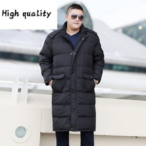 White 90% Duck Down Coat Men Korean Plus Size Winter Coat Men Long Puffer Jacket Warm Doudoune Homme