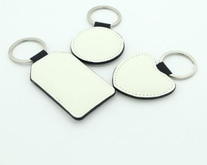 sublimation PU Double Sides Blank Keychain Accessories Tassel Key Ring Bag Parts