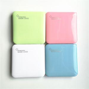 Quadratische Form Antibakterielle Maske Fallbox Tragbare Staubdichte Gesichtsmasken Container Candy Farbe Umweltfreundliche Schutzmaske Tasche H12707
