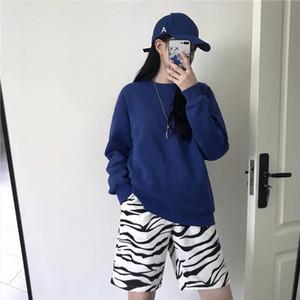 ins personality zebra print Harajuku loose wild street shorts men and women Drop Shipping Good Quality