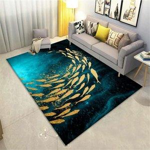 الفاخرة نمط البساط السجاد الذهب الأسماك ممر السجاد ممسحة المدخل شرفة السرير حصيرة منطقة كبيرة سجادة لغرفة المعيشة الحديثة