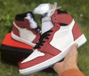 Daha iyi Kalite 1 OG Chicago Kristal 3 M Basketbol Ayakkabıları Erkekler Kadınlar 1 S Spor Red Mavi Beyaz Spor Sneakers