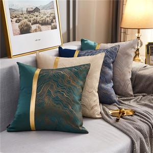 الفاخرة الحديثة وسادة غطاء الذهب كوست متعدد الألوان وسادة القضية لغرفة النوم غرفة المعيشة سيارة الأخضر الأزرق الرمادي كريم اللون DHD3891