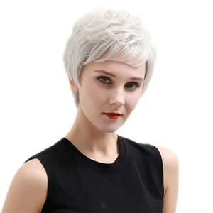 Womens Pixie Cut Layered Wigs Heat Resistant Party Full Head Synthetic Wigs