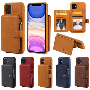 Wallet Leather Phone Case for IPhone 12 pro SE 2020 11 Pro Xs Max Xr X 7 8 Plus 6 6s Magnet Card Holder Zipper Flip Cover