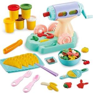 Дети играют тесто творческие образовательные игрушки моделирование глины пластилин инструмент набор DIY 3D лапши ручной работы вареники DIY пластилин 201226