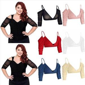 Women Both Side Wear Sheer Plus Size Seamless Arm Shaper Top Mesh Shirt Blouses blusas mujer de moda 2020 hOT