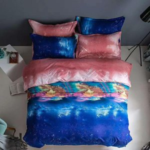 Starry Sky and Star Printed Ployester Duvet Cover Sets Pillowcase 3 Pcs Bedding Sets Comforter Home Textile 2020 Hot Sale