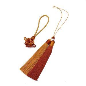 Paquete de 1set Pilester Borla de la borla Trim con 12 cm Tassels de seda de algodón para la decoración de la boda Hecho a mano DIY cortinas de costura Accesorios H Qylzmn