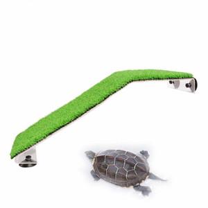 Saim Schildkröte Basking Plattform Acryl Turtle Island Aquarien Moss Einspannhilfen Insel Schildkröten Reptil Behälter Dekoration C1115