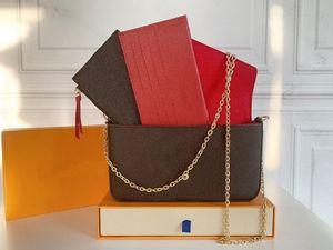أكياس المصممين الفضلات حقائب محفظة أحدث امرأة الأزياء رفرف أكياس حقائب الكتف جودة عالية pochette félicie سلسلة حقيبة مع صندوق الغبار حقيبة M61276