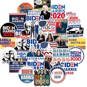 Biden Harries Letters Stickers USA President Election Joe Biden Poster Notecase Decals Luggage Gita Paster 100pcs pack Car Sticker E111801