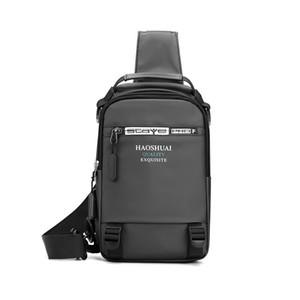Men's Casual Leather Chest Bags Shoulder Bag Business Vintage Outdoor Zipper Messenger Bag Hot Sale Sports for Men Bag Black