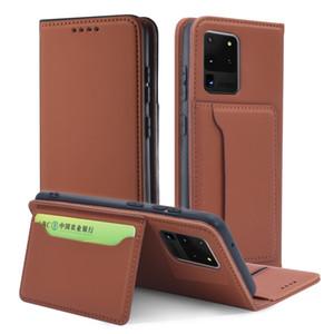 Luxo Cartão de Carteira Real Flip Capa de Couro para Samsung Galaxy S20 Fe S20 Ultra S10 Plus Nota 20ultra 10 Plus A42 A71 A51 5G A31 A21S
