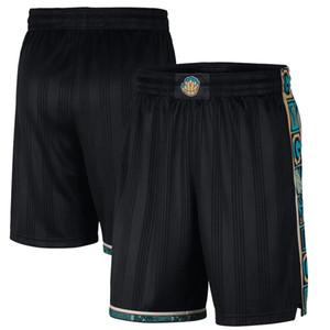 MemphisGrizzliesHombres 2020/21 CiudadEdiciónPantalones cortos de baloncesto swingman pantalones negros