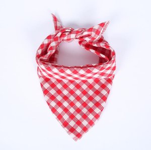 Pet Square Scarf Red Green Plaid Pet Triangle Scarf Dog Towel Cat Bib Scarf Apparel Supplies DHC5764