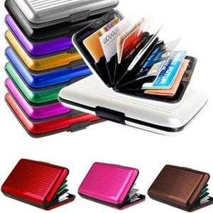 Card Holders Pocket Credit Cards Wallet Holder Case Box Aluminum Metal Waterproof Business Credit Card ID Package Bank Case Holder GWB3270