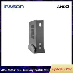 IPASON MINI PC مكتب الكمبيوتر المكتبي الكمبيوتر AMD A10 نسخة مطورة FX9830P رباعية النواة 8 جرام رام 240 جرام SSD ويندوز 10 home1
