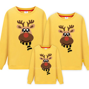 Look Dad Mommy and Me 2020 Father Mother Daughter Deer Christmas New Year Cotton Sweaters Pajamas Family Matching Clothes