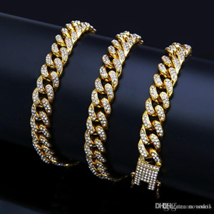 Iced out chains For Man Gold Necklace Mens Hip hop bling chains jewelry men Cuban link Stainless steel