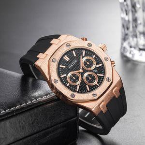 Commercio all'ingrosso prezzo a buon mercato Mens sportivo orologio da polso da polso al quarzo orologio da orologio maschile con orologio da uomo in gomma orologi da uomo orologi designer