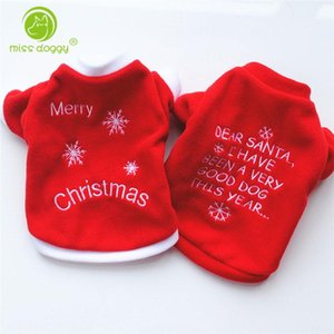 XS S M L Red Pet Dog Clothes Christmas Costume Cartoon Clothes For Small Dog Cloth Costume Dress Winter Apparel Coat Apparel