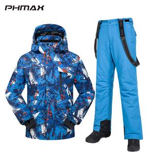 PHMAX Winter Ski Suit Men Women Windproof Ski Jacket Pants Set Waterproof Keep Warm Outdoor Skiing and Snowboarding Jacket Q1127