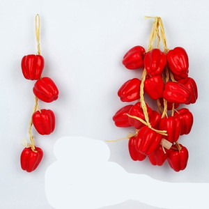 Simulação Espuma Fruta Decorativa String Legumes Bunch Cebola Cebola Alho De Pimenta Vermelho Cluster Cozinha Decoração Agricola 3 8ns C2