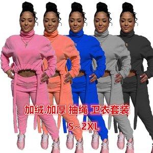 ERJC Neue Plus Größe Zwei Trainingsanzug Frau Outfit Top Und Hosen Frauen Stück Kleidung Lässig 2 stücke Set Sportanzug Jogging Anzüge Sweatsuits Jumpsui