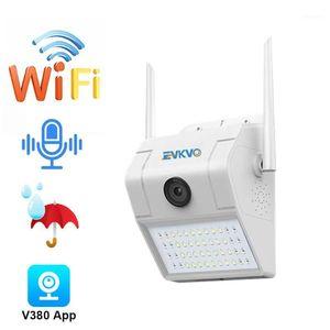 카메라 2.0MP 야외 보안 카메라 1080P 와이파이 야간 비전 LED 모션 센서 라이트 클라우드 스토리지 IP66 방수 1