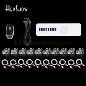 4 6 8 10 Ports Mobile Smartphone Security Burglar Alarmanlage mit Acryl Display-Stand-Handy-Anti-Diebstahl-Alarm-Host Y1201