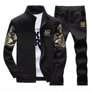 Mens tracksuits outwear 2019 mens hoodie set 2 pieces spring autumn sports track suit men AR Embroidery jogging suits sweatshirts