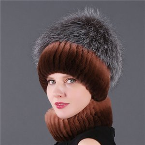 Winter Women Cute Custom girl hat Luxury Real Rabbit Fur Acrylic Knitted Beanie
