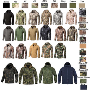 Outdoor Woodland Hunting Shooting Clothing Tactical Camo Coat Combat Clothing Camouflage Outdoor Hoody Softshell Jacket No05-201