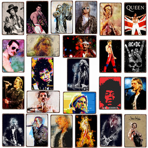 2021 Funny Rock Music Guitar Vintage Metal Tin Sign Wall Bar Cafe Store Home Art Craft Decor 30X20CM Modern Poster Wall Art Pictures