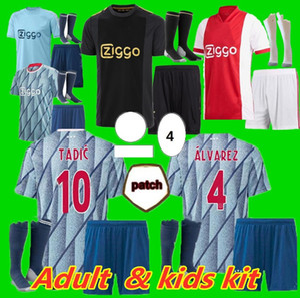 Kids Kit Holding Kit 20 21 Ajax Футбол Джерси Осна 50 ajax Amsterdam Van de Beek Neres 2020 2021 Tadic Zieech Футбол