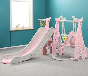Baby Slide 4 in 1 Children Indoor Home Safety Slide Swing Chair Slide Combination Kindergarten Kids Playground Sports Game Toys