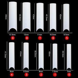 500 шт. XXL C-Crve Square Half Cover Nail Tips 0-9 Размеры XXL C-Curve Nail Tips, длинные советы - Нажмите на ложные ногти