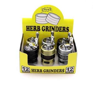 4 слоя Hand Crank Курительные Herbal Grinder Mini 40 * 43 мм Металл Tobacco дробилка с пыльцой Catcher специй Muller Табак Курительные принадлежности