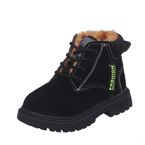 COZULMA Winter Autumn Boots for Boys Girls Martin Boots with Plush Kids Soft Bottom Fashion Sport Shoes Children Boys Sneakers Y1127