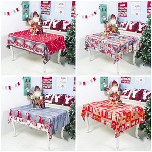 New 7Styles Christmas Cartoon Polyester Tablecloth Washable Party Decoration Table Cloth 150*180cm Good Quality DHA1797