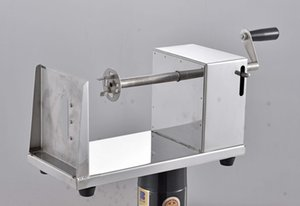 Manual Potato Cutter Stainless Steel Potato Slicer Twist Slicing Machine Potato Spiral Tower Frying Snack Machine