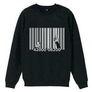 Prison Break Break Bar Code Codice prigione Consumismo Rivoluzione Ragazzo uomo uomo equipaggio collo felpa pullover fleece Ziiart