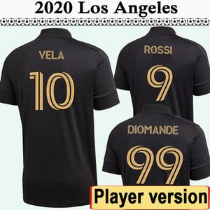 2020 2021 LAFC Rossi Vela Erkek Oyuncu Sürüm FC Futbol Formaları Yeni Los Angeles Ev Siyah Futbol Gömlek Nimet Diomande Kısa Üniformalar