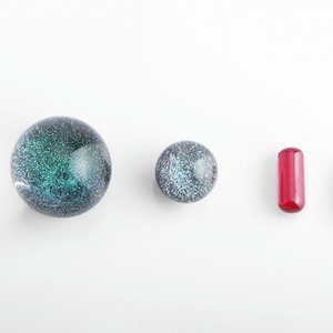 Nouveau Terp Slurper Set Ruby Pilule Perle 22mm Dichro Perles de 14mm Perles de verre de 14mm pour Terp Slurper Quartz Banger DAB DAB